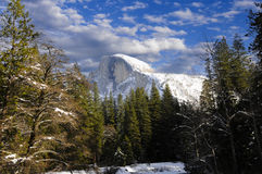 Half Dome in winter Royalty Free Stock Photos