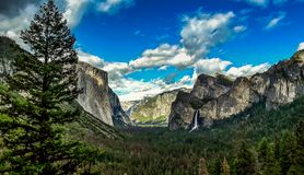 View on yosemite valley, yoesmite national park, usa royalty free stock photos