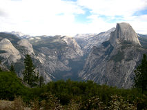 The half-dome of Yosemite (California, USA). The Half-Dome in Yosemite National Park (California, USA Stock Photography