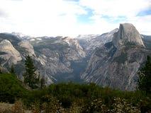 The half-dome of Yosemite (California, USA). The Half-Dome in Yosemite National Park (California, USA stock photography