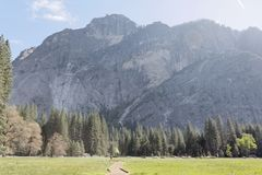 Half Dome in Yosemite. National park beautiful landscape royalty free stock photography