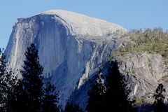 Half Dome, Yosemite National Park, California view from Curry Village Stock Photo
