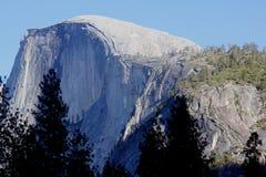 Half Dome, Yosemite National Park, California view from Curry Village. Half Dome, Yosemite National Park, California, seen from Curry Village Parking Lot,  dome Stock Photo