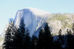 Half Dome, Yosemite National Park, California view from Curry Village Stock Image