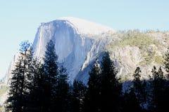 Half Dome, Yosemite National Park, California view from Curry Village. Half Dome, Yosemite National Park, California, seen from Curry Village Parking Lot,  dome Stock Image