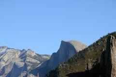 Half Dome, Yosemite National Park, California, zoomed in view from Tunnel View Stock Photo