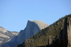Half Dome, Yosemite National Park, California, zoomed in view from Tunnel View. Half Dome, Yosemite National Park, California, Cloud Rest on left, zoomed in view Stock Images
