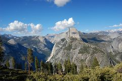 Half Dome in Yosemite National Park. From Glacier point Stock Images