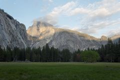 Half Dome in Yosemite national park. Beautiful landscape royalty free stock image