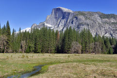 Half Dome in Yosemite National Park, Sierra Nevada Mountains, California Royalty Free Stock Image