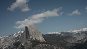 Half Dome, Yosemite National Park Timelapse Stock Image