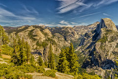 Half Dome Yosemite National Park. Western Sierra Nevada mountains of Northern California Stock Image