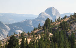 Half Dome and Yosemite's Rocky Hillsides, California Stock Photography
