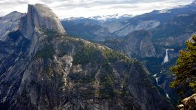Half Dome and the Yosemite Valley Stock Photos