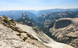 Half Dome and the Yosemite Valley, California Stock Photos