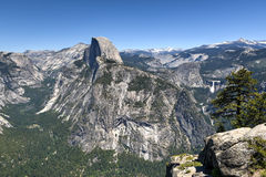 Half Dome of Yosemite Valley Stock Images