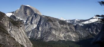 Half Dome, Yosemite Valley Panorama Royalty Free Stock Images