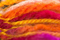 Half done woolen bookmark. Royalty Free Stock Images