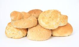 Half a dozen burger bun bread rolls Royalty Free Stock Image