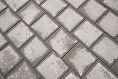Half dried tiles of pavement Royalty Free Stock Image