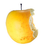 Half eaten apple Royalty Free Stock Images