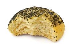 Half-eaten bun Stock Image