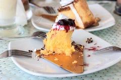 Half eaten cake Royalty Free Stock Images
