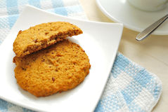 Half eaten cookies Royalty Free Stock Photos