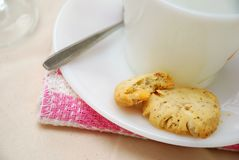Half eaten cookies for afternoon snack Royalty Free Stock Photography