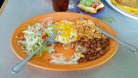 Half eaten enchiladas Royalty Free Stock Photos