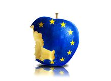 half eaten europe apple Royalty Free Stock Photography