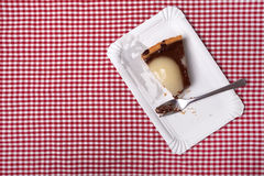 Half eaten fruit cake Stock Photo