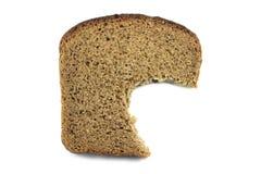 Half-eaten piece of bread Royalty Free Stock Photo