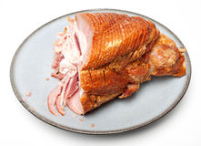 Half eaten spiral sliced ham Royalty Free Stock Photography