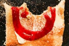 Half eaten toast Royalty Free Stock Image