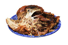 Half eaten turkey Royalty Free Stock Images