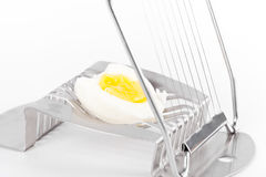 Half  egg on cutter Royalty Free Stock Image