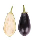 Half of eggplant. Stock Images