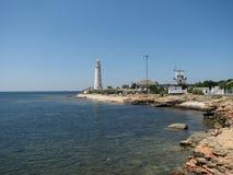 Half eiland in de Krim Stock Foto
