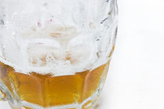 Half empty beer Royalty Free Stock Photography
