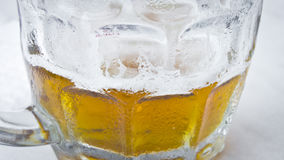 Half empty beer Royalty Free Stock Photos
