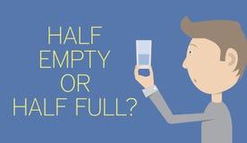 Half Empty Or Half Full Stock Photography