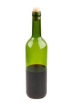 Half empty red wine bottle Stock Photography