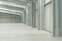 Half of empty warehouse Stock Photos