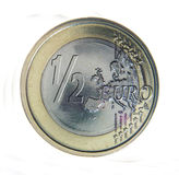Half euro Stock Image
