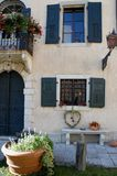 Half the façade of the castle of Strassoldo Friuli (Italy) Royalty Free Stock Images