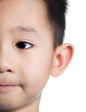 Half face asian boy Royalty Free Stock Image