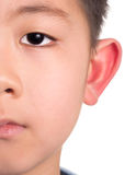 Half face asian boy Royalty Free Stock Photos