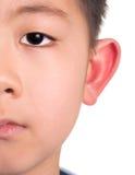 Half face asian boy Royalty Free Stock Photos