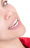 Half face with beautiful smile Royalty Free Stock Photos
